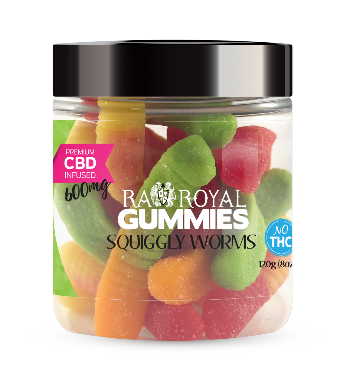 R.A. Royal Gummies – 600MG CBD Infused Squiggly Worms