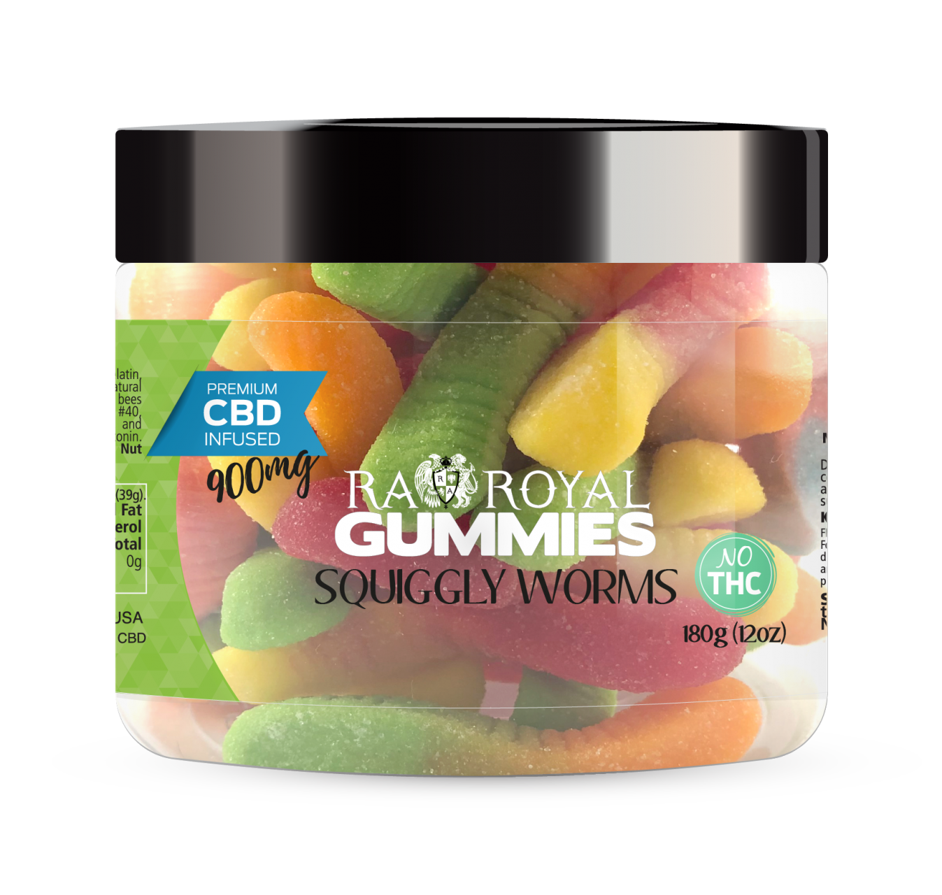 R.A. Royal Gummies – 900MG CBD Infused Squiggly Worms