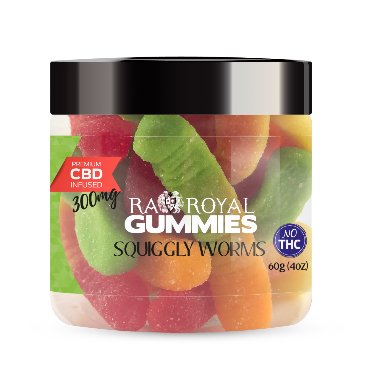 R.A. Royal Gummies – 300MG CBD Infused Squiggly Worms